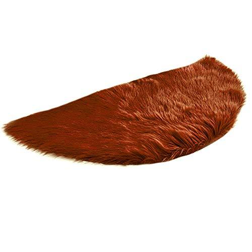 Mamum Faux Peau de Mouton en Laine Tapis (45 x 90 cm) Imitation Toison Moquette Fluffy Soft Longhair Décoratif Coussin de Chaise Canapé Natte (A)