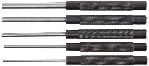 Fowler - 52-500-300-0 52-500-300 Chrome Alloy Steel Extra Long Drive Pin Punch Set, 8
