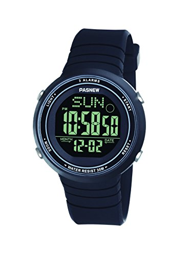 Pasnew-445G Orologio donna ragazza Orologio sportivo digitale Orologio di moda multifunzione Allarme Luce Impermeabile con cronometro