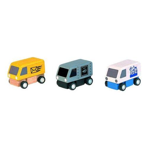 Plan Toys Delivery Vans (1 Set @ 3 Pcs)