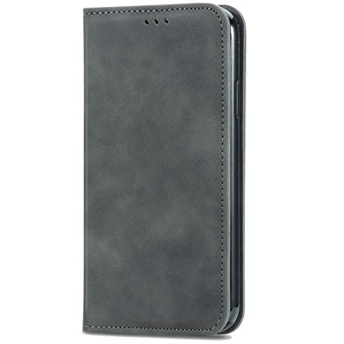 Blllue Schutzhülle für Samsung S9, PU-Leder, Magnetverschluss, Grau