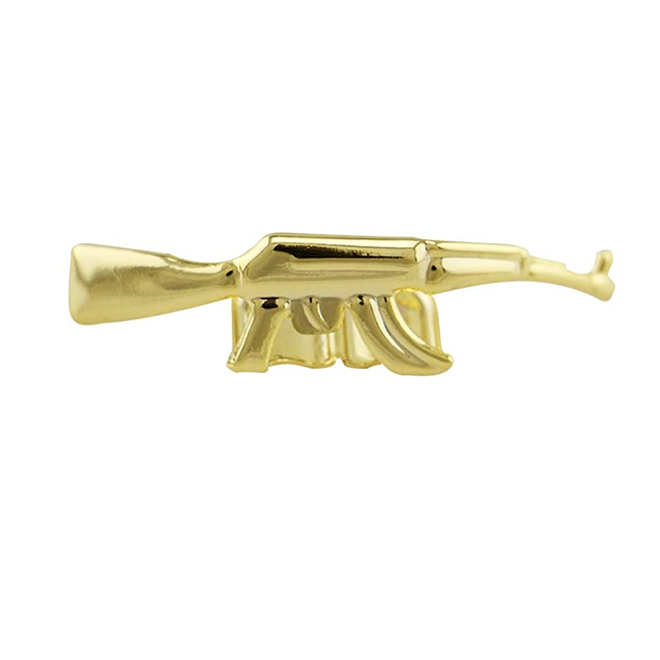 入場平等シュートYHDD メンズ豪華ゴールドメッキヒップホップ歯クリエイティブパーソナリティグリル歯キャップ - 大人のための高光沢コスチュームパーティーラッパーアクセサリー (色 : ゴールド)