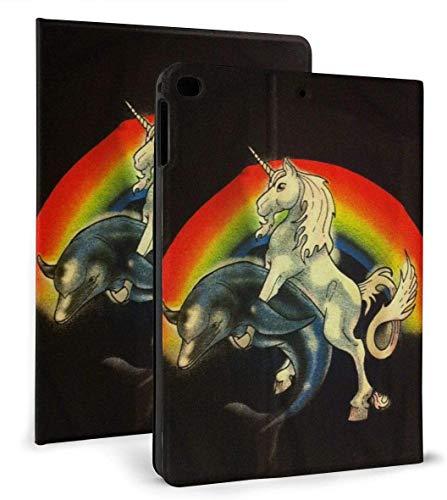 Dolphin Unicorn PU Leather Smart Case Auto Sleep/Wake Feature for iPad Air 1/2 9.7' Case