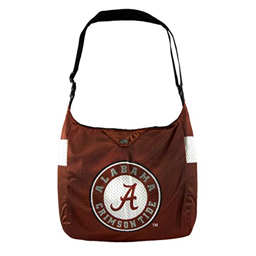 "Littlearth NCAA Team Jersey Tragetasche, Damen, NCAA Team Jersey Tote made from Authentic Jersey Material, Alabama Crimson Tide, 15"" H x 14"