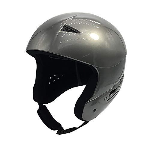 SXC Skihelm Snowboardhelm Schneehelm Kinderskihelm Race Wintersport-Helm mit Luftausgangsschlitzen Gepolsterter Kinnriemen Skibrillen-Clip für Männer Frauen