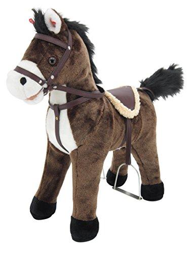 """Sweety Toys 5062 Stehpferd Plüsch Pferd Chocolate """" My Little Pony"""" mit Funktion Sound Pferde Galopp und Gewieher, Sattel und Steigbügel,Sweety-Toys braun Chocolate"""