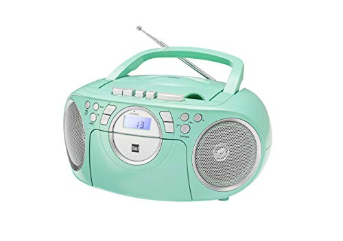 Dual 75404 Dual P 70 Mint Kassettenradio - CD - UKW-Radio - Boombox - CD-Player - Stereo - Lautsprecher - AUX-Eingang - Netz- / Batteriebetrieb - Tragbar - Mint - Dual P 70 Mint
