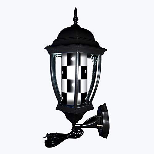 YUUKJ Barber Pole Lumineux Et Pivotante Poteau De Coiffeur LED Poteau De Barbier Rouge Blanc Bleu Bandes Coiffure Salon Lumière Signe Mur Lampe,G