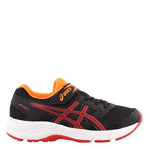 ASICS Kid's Gel-Contend 5 GS Running Shoes, 4M, Black/Speed RED