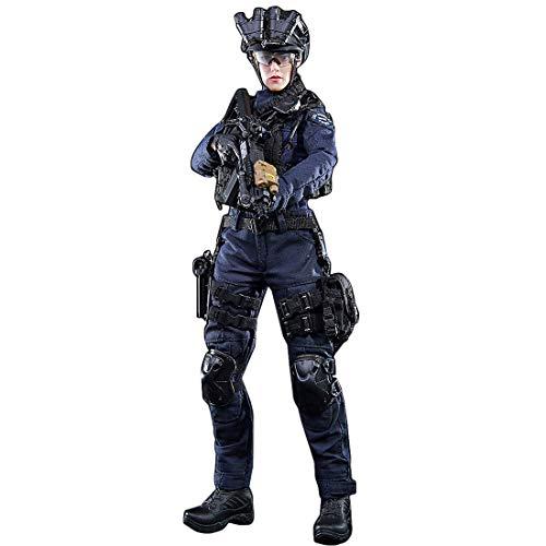 Sunbary 1/6 Weiblich Soldat Action Figur Modell, 30cm SWAT Polizisten Soldaten Actionfigur Spielzeug Militär Figuren Modell für Kinder und Erwachsene