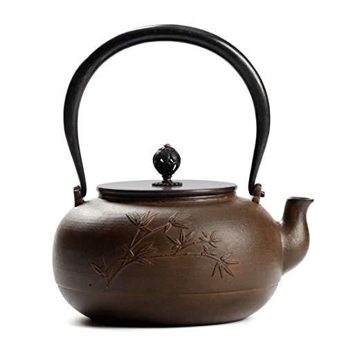 Tea Pot, Japanese Vintage Tea Maker, Cast Iron Heat Resistant Small Tea Kettle for Loose Leaf Tea, for Party Office Home, 1300ml