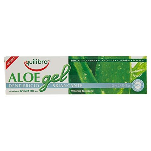 Equilibra Igiene Dentale, Aloe Gel Dentifricio Sbiancante, Dentifricio Aloe Vera in Gel per Denti...