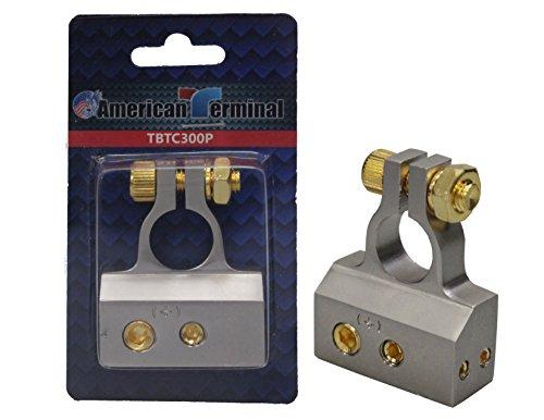American Terminal TBTC-300P 4/8/10 Gauge AWG Positive Chrome Battery Terminal Connector