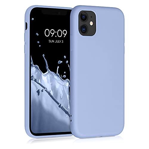 kwmobile Custodia Compatibile con Apple iPhone 11 - Cover Silicone Gommato - Back Case Protezione Posteriore Cellulare - Blu Chiaro Matt