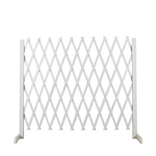 BBGS Garden Telescopic Fence, Wooden Expanding Fence Outdoor White Fence Pet Fencing for Patio Garden Lawn Decoration (Size : 70cm height)