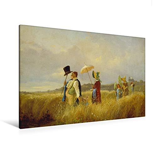 fotobar!style Premium-Leinwand 120 x 80 cm Keilrahmen, Tiefe 2 cm Carl Spitzweg - Der...