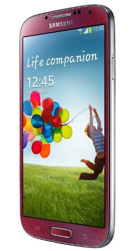 Samsung Galaxy S4 Smartphone (12,7 cm (4,9 Zoll) AMOLED-Touchscreen, 16GB interner Speicher, 13 Megapixel Kamera, LTE, Android 5.0) - Rot [EU-Import]