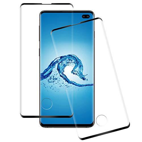 NASFUEY[2 Pezzi Vetro Temperato per Samsung Galaxy S10 Plus, Samsung S10 Plus Pellicola Prottetiva, Ultra Resistente, Anti-Impronte, Anti-Macchia, Senza Bolle, S10 Plus Pellicola Vetro Protettivo