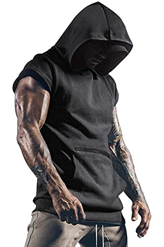 Yidarton Camiseta sin mangas para hombre, para entrenamiento, deporte, fitness, musculación, para gimnasio, culturismo gris oscuro M