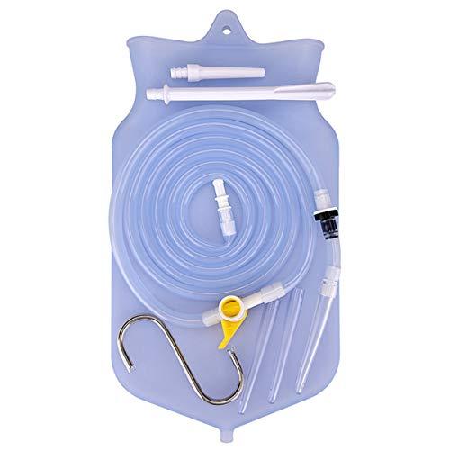 Kit de Bolsa de Enema, Silicona no tóxica Kit de Enema de Manguera Larga de 150 cm con Abrazadera de Control de Flujo más fácil para la Limpieza del Colon en Agua y café en el hogar