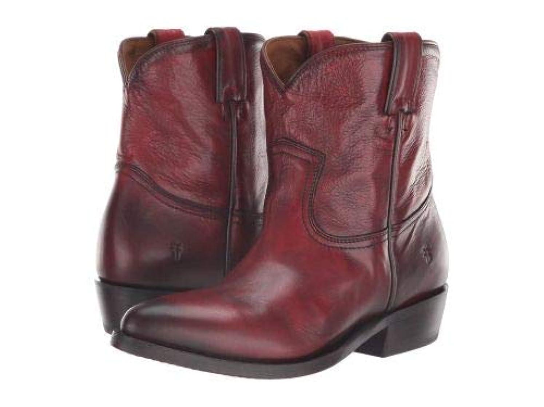 トランスペアレント医薬品排除Frye(フライ) レディース 女性用 シューズ 靴 ブーツ アンクルブーツ ショート Billy Short - Burnt Red Polished Soft Full Grain [並行輸入品]