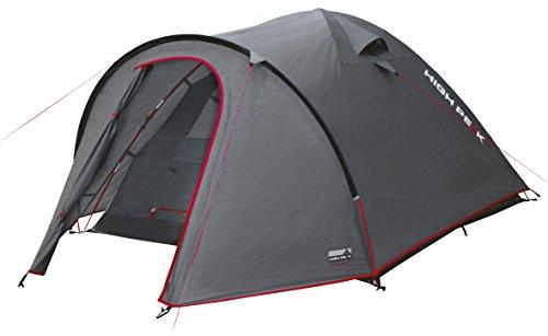High Peak Kuppelzelt Nevada 3, Campingzelt mit Vorbau, Iglu-Zelt für 3 Personen, doppelwandig, 3.000 mm wasserdicht, Ventilationssystem, Wetterschutz-Eingang, Moskitoschutz