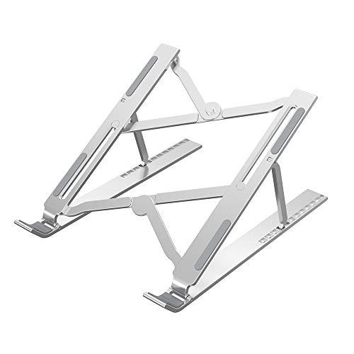CHYA Soporte para Portátil para Macbook Portátil Plegable de Aleación de Aluminio Ajustable Soporte para Portátil Soporte para iPad