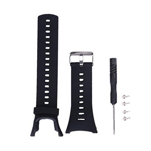 Meiruo Armband für Suunto Ambit/Suunto Ambit 2/Ambit 2S/Ambit 2R/Ambit 2 Sapphire/Suunto Ambit 3/ Ambit 3 Peak(Schwarz)