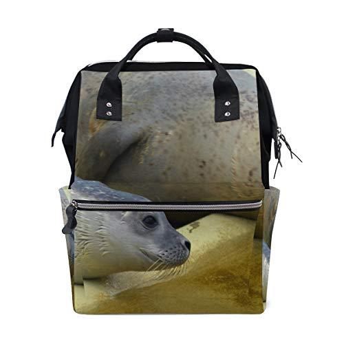 Lustiger Meeresbewohner See-Rucksack Windeltasche für Mutter Frauen Baby Wickeltasche Reiserucksack groß Schule Laptop Wandern Tasche Outdoor