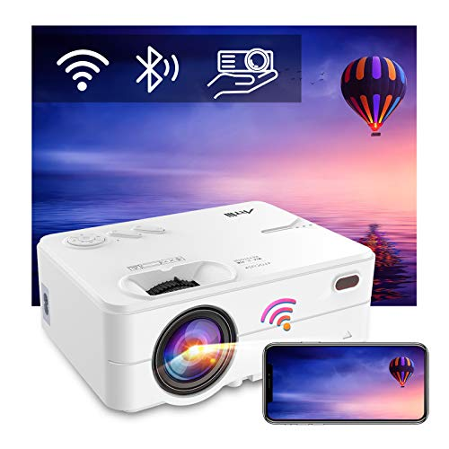 Proiettore Wifi Bluetooth Artlii Enjoy2 Supporta 1080p Full Hd Videoproiettore Mini Proiettore Portatile Proiettore Per Smartphone Home Theater per iOS, Android, TV Stick