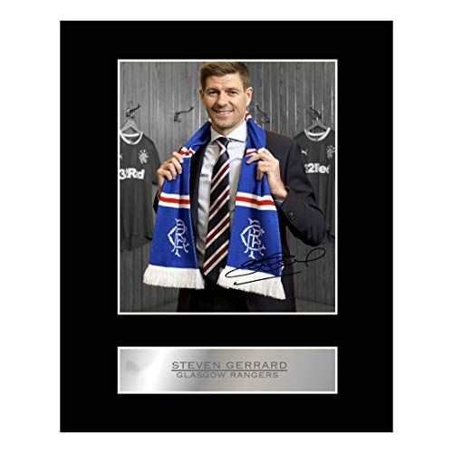 Steven Gerrard Signed Mounted Photo Display Glasgow Rangers FC Autographed Gift Picture Print