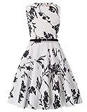Grace Karin Girls Retro Sleeveless Swing Dresses with Belt 10-11yrs K250-25