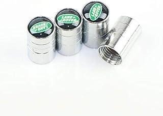 4pcs /set Silver Chrome Car Wheel Tire Air Valve Caps Stems Cover Air Dust Cover Screw Caps For Land Rover