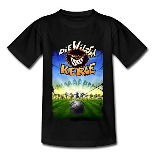 Die Wilden Kerle Angriff Kinder T-Shirt, 110-116, Schwarz