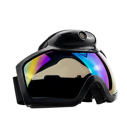Kamerabrille Spionagebrille Ski Google Kamera TE668HD Full HD hochauflösend mit 2 Megapixel - zur Aufnahme von Bildern und Videos mit Mikrofon, Mini Videokamera, Mini Digitalkamera von Kobert- Goods