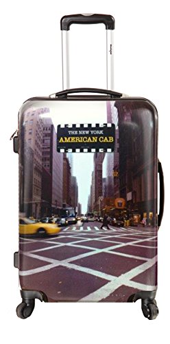 New-York Taxi - Valise Trolley Rigide 4 roulettes 56 cm...