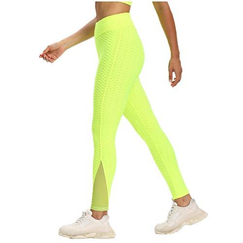 TWIOIOVE Leggings Sin Costuras Corte de Malla Mujer Pantalon Push Up Mujer Mallas Pantalones Deportivos Alta Cintura Elásticos Yoga Fitness Estiramiento Yoga y Pilates