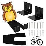 Soporte de Pared Para Bicicleta, Soporte de Pared horizontal para bicicleta de montaña/de carreras, Compatible con todo tipo de bicicletas
