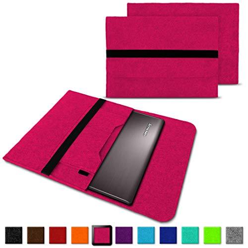 NAUC Notebook Tasche Hülle für Lenovo Yoga C930 900 900 S 910 510 520 530 710 720 730 13,3-14 Zoll Filz Sleeve Schutzhülle aus Filz mit Innentaschen, Farben:Pink