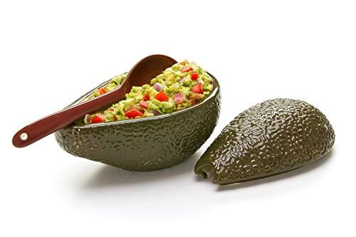 Prepworks by Progressive Bol à guacamole avec cuillère – Idéal pour servir du guacamole fait maison, des sauces à l'avocat, du guacamole