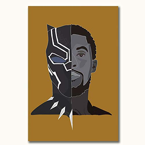 FOCLKEDS - Poster astratto con pantera nera 'Avengers Infinity War Black Panter', 30,5 x 45,7 cm