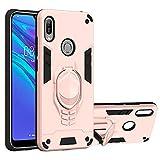 vingarshern Funda para Huawei Y6 / Y6 Pro / Y6 Prime (2019) Carcasa Diseño 2 en 1,TPU Cover+Hard PC Caja,Anti-Choque Estuches Huawei Y6 / Y6 Pro / Y6 Prime 2019 Fund con Soporte Móvil(Oro Rosa)