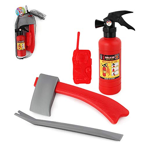 Fenfangxilas Firefighting Set, Pull-Type Fire Extinguisher Water Gun Cap Suit Beach Play Toys for Kids 5#