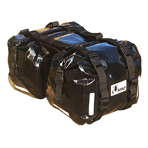 Baul Case para 50L / 60L Bolsa de sillín de Motocicleta Impermeable Casco de Moto Bolsas de Viaje Maleta alforjas Bolsa de Asiento Trasero para Motocicleta (Color : Negro)