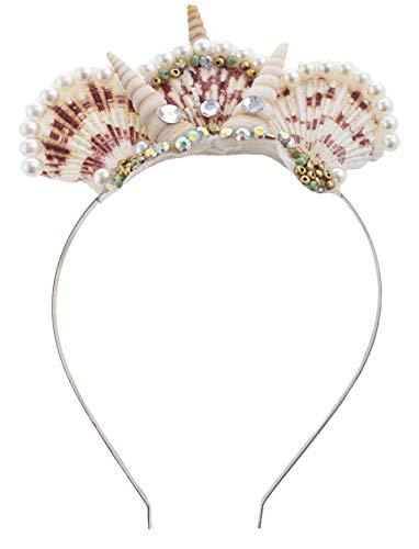 Funny Fashion Haarreif Meerjungfrau   Kopfschmuck mit Muscheln und Perlen für Fasching & Karneval   Meerjungfrauen-Krone als Accessoire   Meereswelten Zubehör