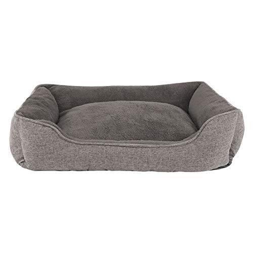 dibea Hundebett meliert Hundekissen Hundekörbchen Bezug abnehmbar 90x75 cm Außenmaß Grau