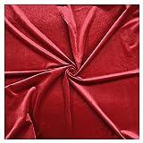 Rot Samtstoff Nicht Dehnbares Veloursmaterial 145cm Breite