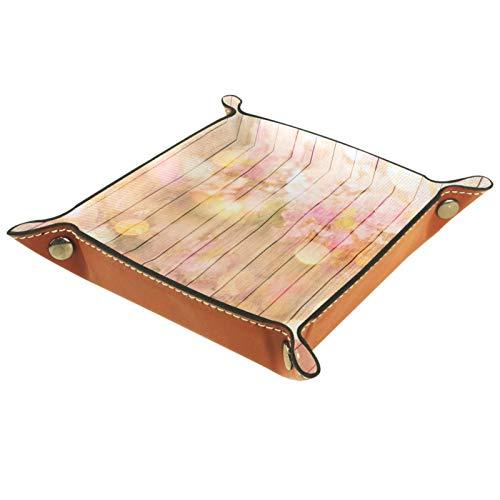MUMIMI Bandeja para anillos y joyas, ideal como regalo para mujer, diseño de flor de cerezo, color rosa
