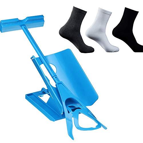 Aparato Para Poner Calcetines sin Agacharse, Ayuda para Poner Calcetines con Calzador- Perfecto para Personas Mayores Discapacitados Embarazo