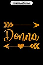 Composition Notebook: DONNA TX TEXAS Funny City Home Roots USA Women Gift Journal/Notebook Blank Lined Ruled 6x9 100 Pages